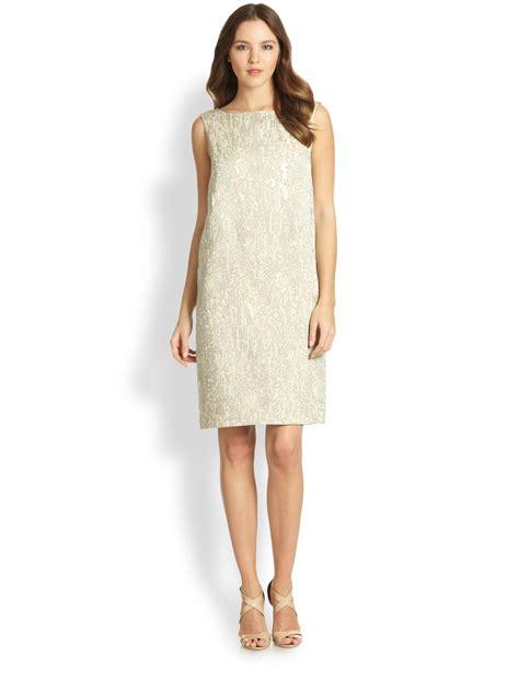 Dress Valentina lafayette 148 new york valentina dress in beige raffia