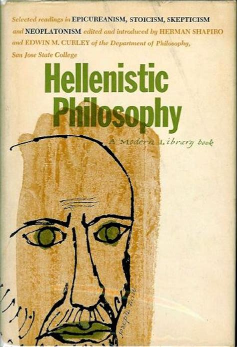 philosophy in the hellenistic philosophy anthologies in the modern library