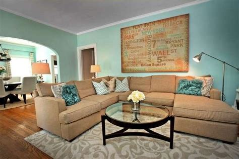 teal living rooms teal and tan living room looks comfortable and modern