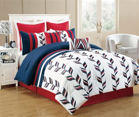 blue comforter set 8 piece fusion red and blue comforter set