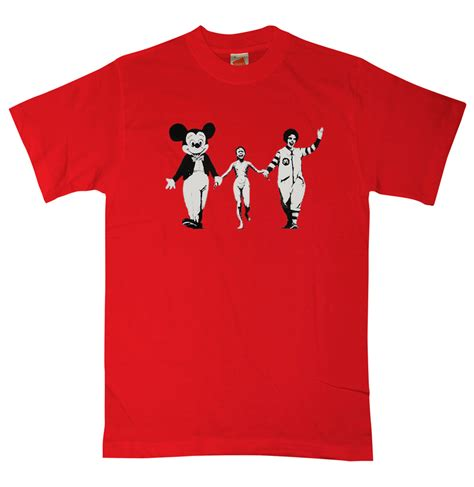 Tshirt Tshirt Here We Arenow when and fashion collide wearing banksy t shirts