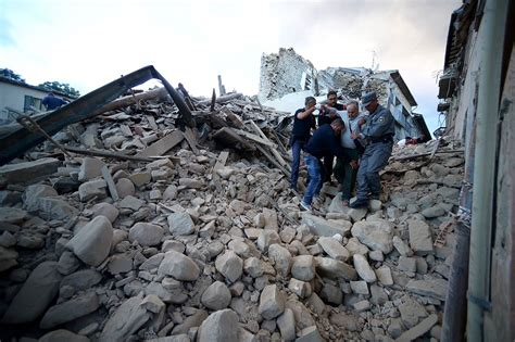 earthquake news scenes from italy s earthquake the ancient town of