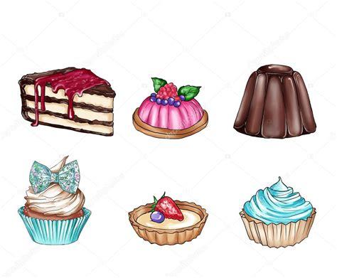 dolci diversi illustrazione di raster con diversi cibi dolci raccolta