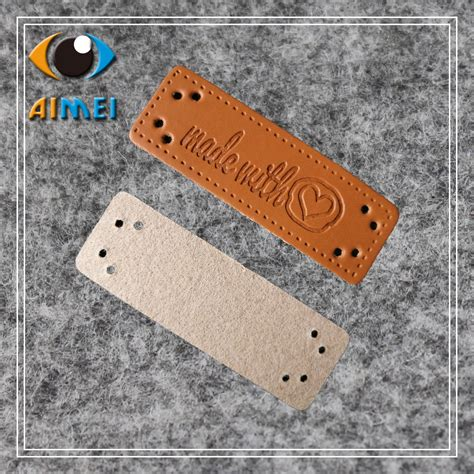 Handmade Clothing Tags - free shipping stock leather handmade clothing labels for