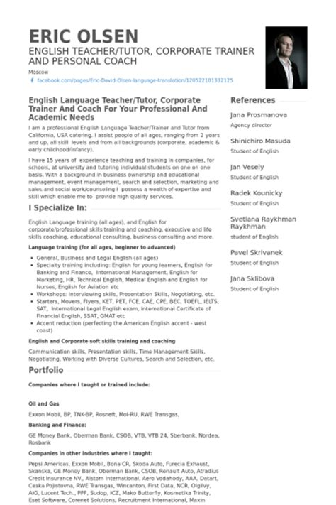 Resume Sles For Esl Teachers E Tutor Resume Sales Tutor Lewesmr