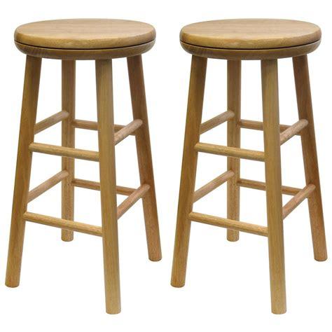 winsome beechwood 24 quot swivel stools set of 2 151043