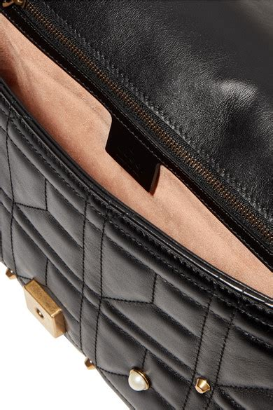 Tas Gucci Marmont Pearl 678 Seprem gucci gg marmont 2 0 medium embellished quilted leather shoulder bag net a porter