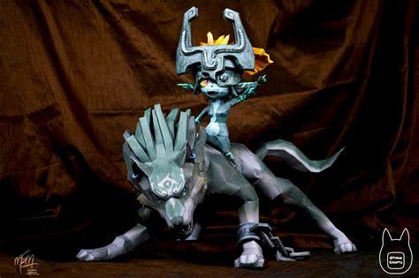 Wolf Link Papercraft - otaku crafts wolf link and midna papercraft