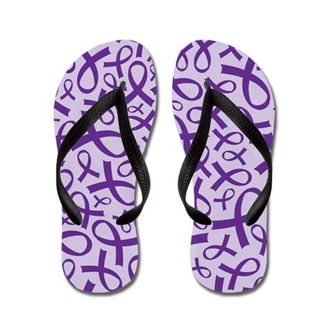 alzheimer s color alzheimer s purple ribbon flip flops by alzheimerstshirts