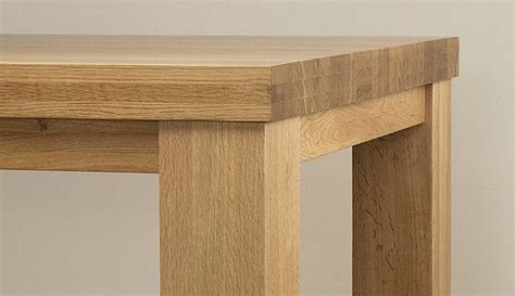 real oak dining table contemporary chunky 6ft x 3ft real oak dining