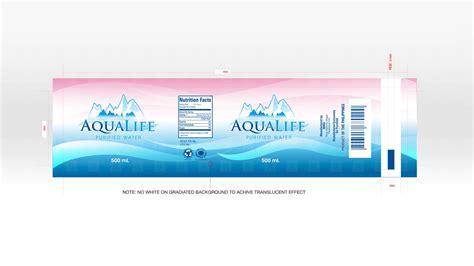 design water label aqualife purified water republik brand communications inc