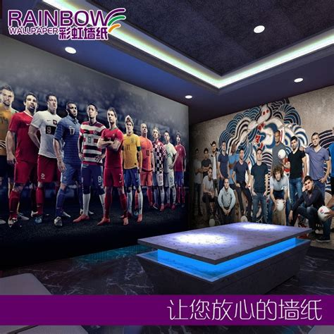 shipping football star large mural sports bar