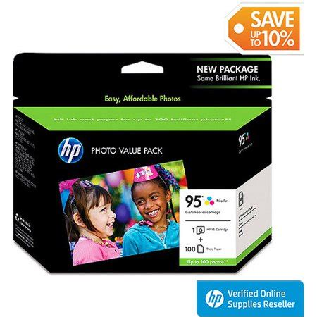 Hp 95 Color Cartridge hp 95 tri color original ink cartridge w photo paper