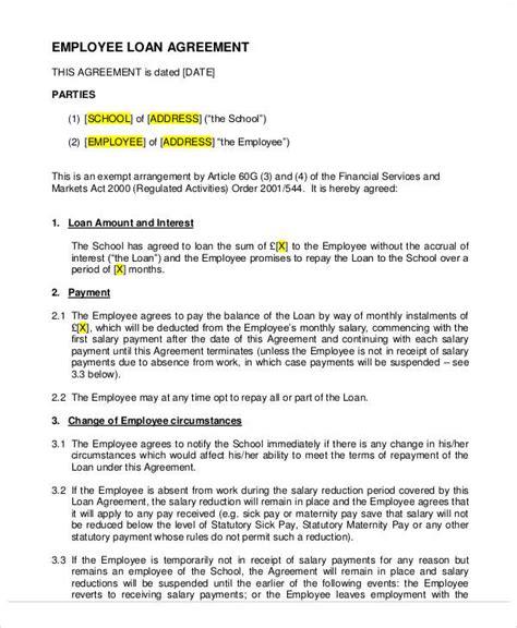 Employee Loan Letter Uk employee loan agreement letter uk 28 images employee