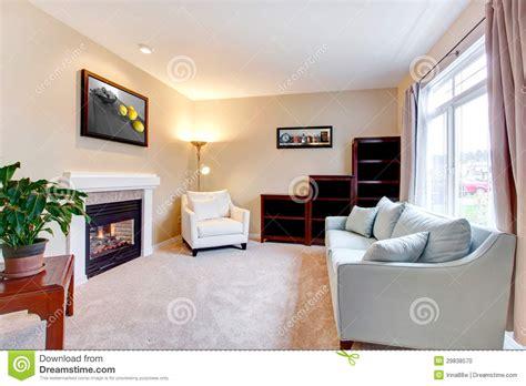 3 Light Floor Lamp Elegant Modern American Living Room Interior With
