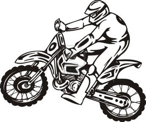 how to draw a motocross bike easy dirt bike drawing www imgkid com the image kid