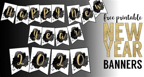 printable 2015 new year banner free printable happy new year banner paper trail design