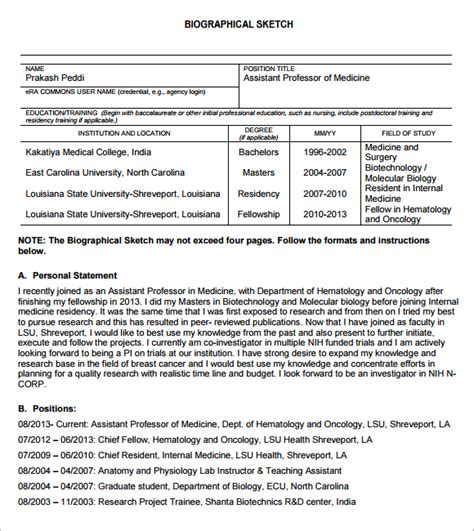 best photos of nih grant proposal template sle