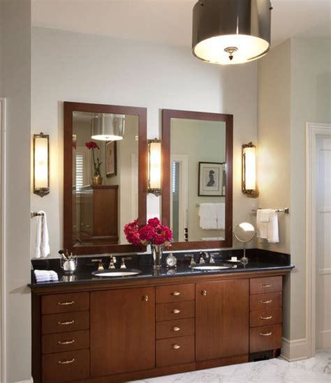 traditional bathroom vanity design in rich color decoist
