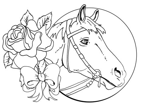 lisa frank horse coloring pages lisa frank horse with rose flower coloring pages cartoon