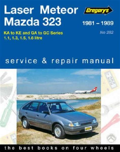 old car owners manuals 1989 ford laser engine control ford laser meteor mazda 323 1981 1989 gregorys service