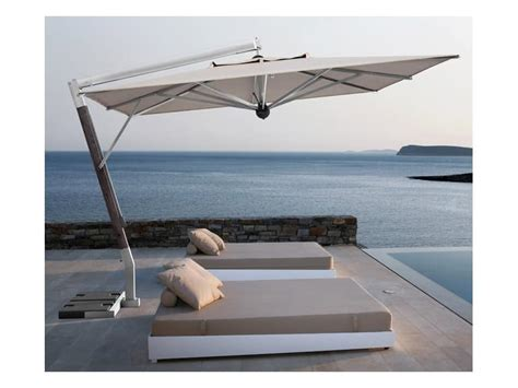 Pool 3x4 Meter by Parasol With Lateral Arm For Terrace Idfdesign