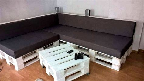 Sofa Made From Pallets by Diy Black White Pallet Sectional Sofa Set 101 Pallets