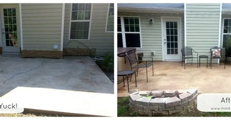 Concrete Backyard Makeover by Patio Makeover With Rustoleum Concrete Stain Diy