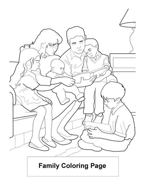family reading coloring page family read book coloring page coloring sky
