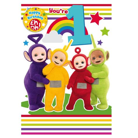 teletubbies cards teletubbies birthday cards assorted ebay