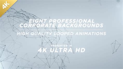 4k damage pack visual effects library professional 4k clean corporate network backgrounds