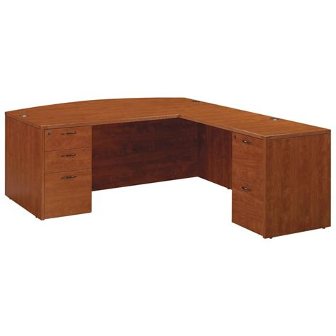 Mahogany L Shaped Desk L Shape Bow Top Desk 71x89 Cherry Or Mahogany