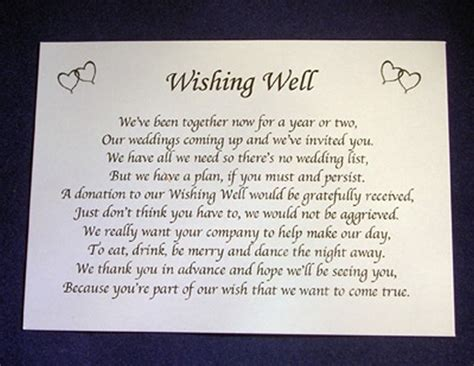 poems about gifts personalised wishing well money request poem gift cards
