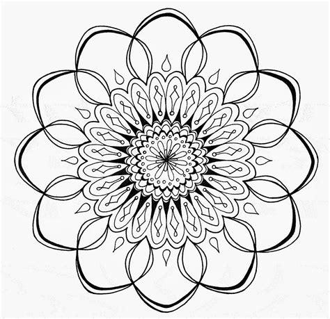 Buddhist Mandala Outline by Om Symbol And Mandala On Upperback Picture