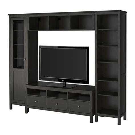 hemnes combinaison meuble tv brun noir ikea