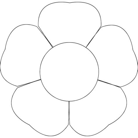 printable paper flower petals 9 best images of printable flower template pattern
