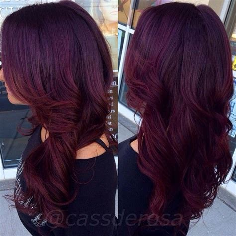 cheveux prune couleur pictures to pin on pinterest pretty redish purplish hair color i ve got to try this