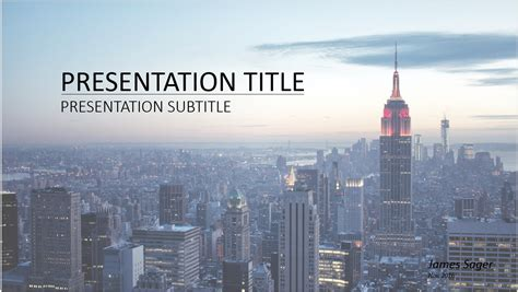 Free New York Powerpoint 13092 Sagefox Free Powerpoint Templates City Powerpoint Template