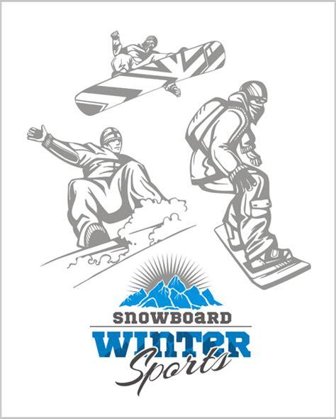 Snowboard Design Vorlage snowboard winter sport vector set 01 welovesolo