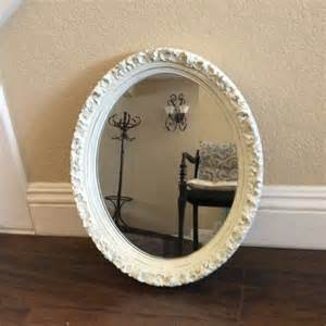 white framed oval bathroom mirror pretty oval mirror white mirror ornate framed by shabbyshores