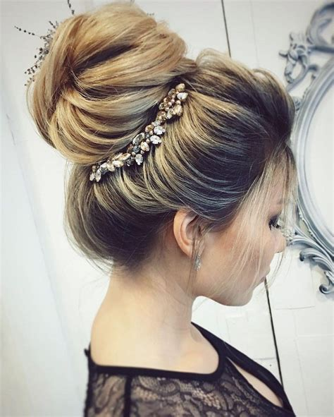 wedding hair up buns pretty wedding updo hairstyle for every type of