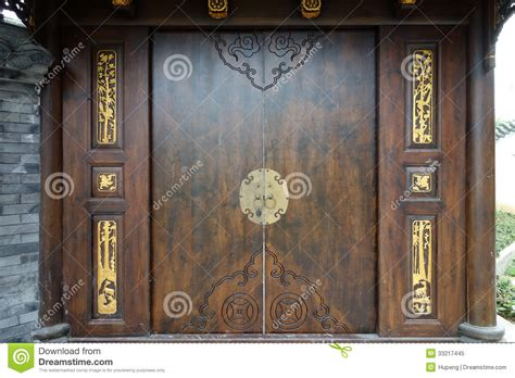 chinese wooden door royalty  stock photo image