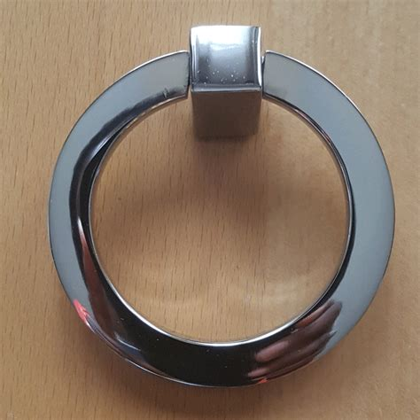 polished chrome cabinet ring pulls 3 inch mission style solid brass drawer ring pull