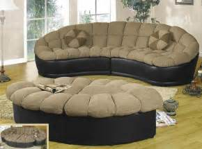 papasan two beige chenille black leather sectional