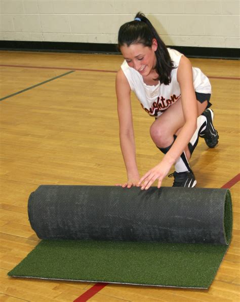 Softball Pitching Mat by Pitching Mat For Softball With Non Skid Back