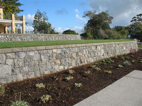 Garden Wall New Zealand Retaining Walls Auckland Stonemasons Walls Rock
