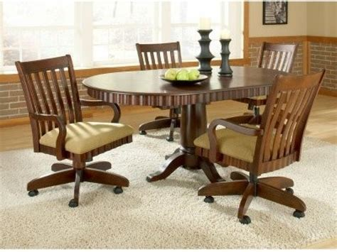 dining room sets with caster chairs caster dining room chairs dining room table sets with