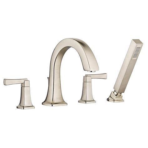 roman tub faucet with hand shower for 5 hole tub 6045 american standard townsend 2 handle deck mount roman tub