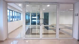 Office Front Door Design Glass Aluminium Fabrication Works Rohini Shops Delhi