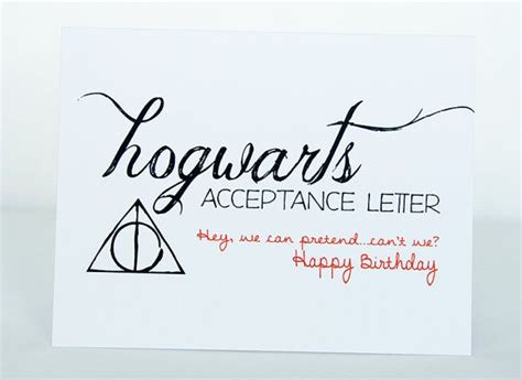 Hogwarts Acceptance Letter Quote hogwarts acceptance letter happy birthday card harry potter dumbledore greeting
